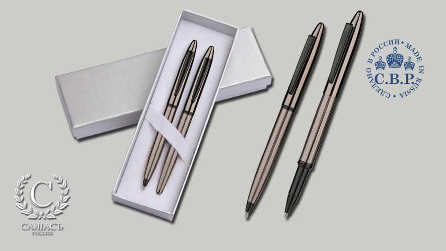 Набор «Новгород», роллер и гелевая ручка